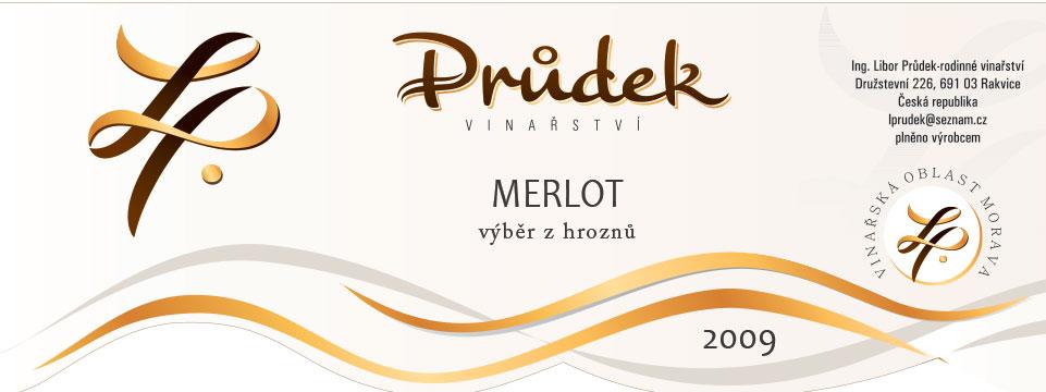 Merlot, výběr z hroznů, 2009